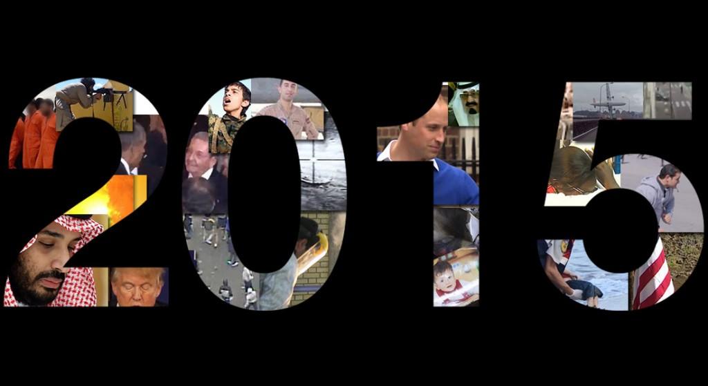 بالفيديو. في أربع دقائق شاهد 40 حدثا عالميا مر في 2015
