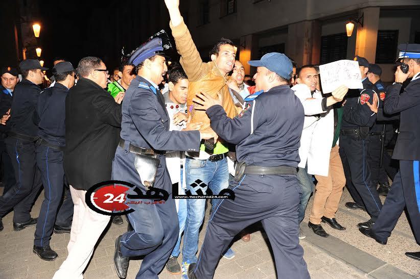 بالصور. اعتقالات في صفوف الأساتذة لإيقاف مسيرة