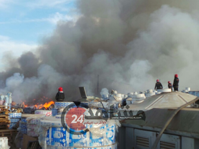 حريق مهول بأحد ''مستودعات'' المحمدية..وهذه التفاصيل