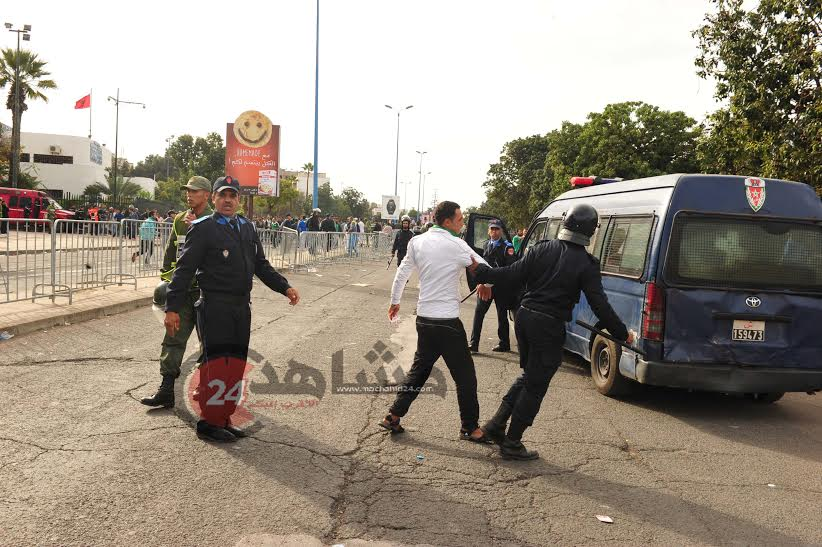 بالصور. تعزيزات أمنية مشددة قبل انطلاق الديربي البيضاوي