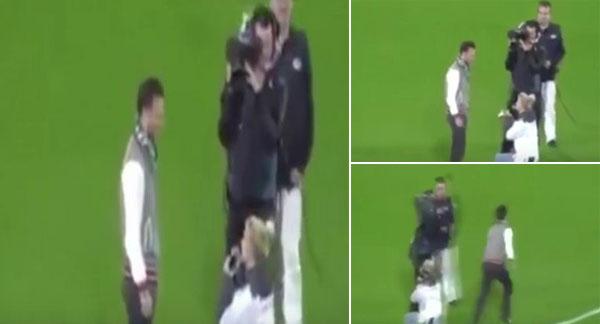 فيديو: فتاة تتقدم لشاب بالزواج في مبارة ريال مدريد ولكنه يفر هاربًا