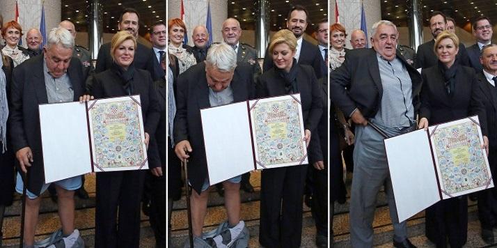 بالفيديو: رئيس لجنة هلسنكي في كرواتيا يسقط سرواله أمام رئيسة البلاد