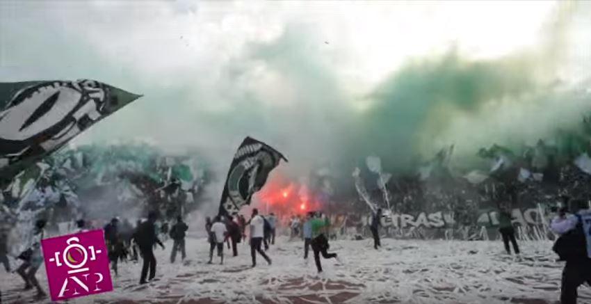 فيديو: احتفالية جماهير الرجاء البيضاوي في الديربي 119