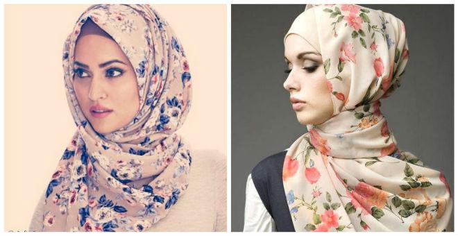 للمحجبات.. ماكياج ناعم للحجاب المنقوش