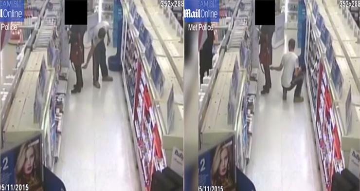 فيديو: تصرف غير أخلاقي من شاب مع فتاة في سوبر ماركت