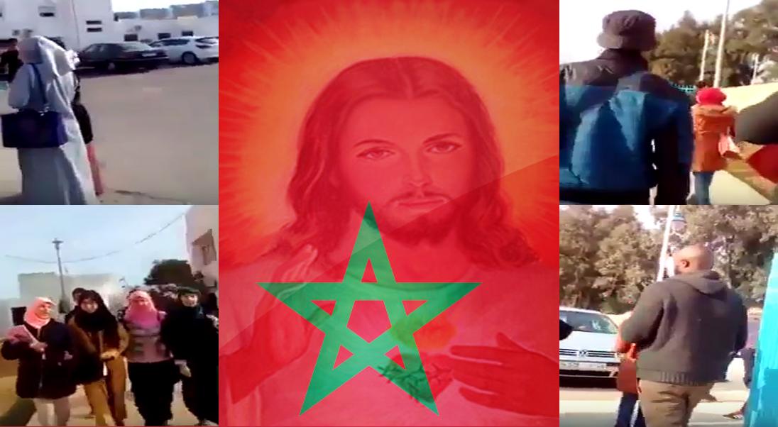 شاب مغربي يبهدل افارقة بعد ضبطهم وهم يبشرون للديانة المسيحية وسط الكلية بتطوان