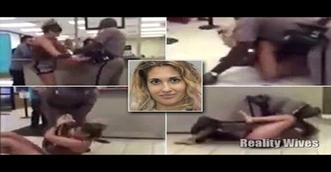 بالفيديو.. معركة عنيفة بين سيدة غاضبة وضابط شرطة أمريكي
