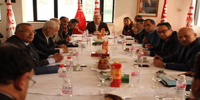 قيادات أحزاب التحالف الحكومي تونس