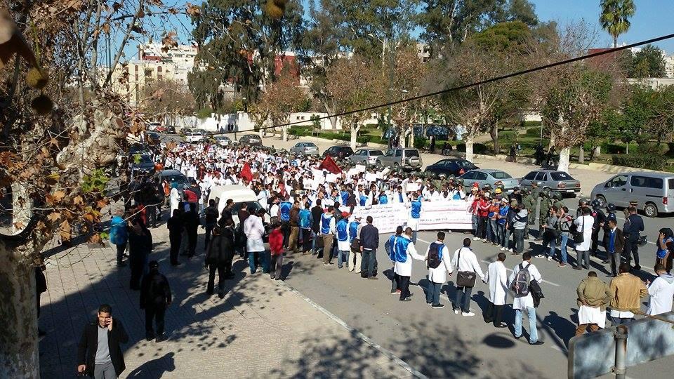 بالفيديو. الأمن يمنع مسيرة احتجاجية للأساتذة المتدربين بالقنيطرة