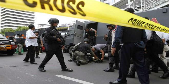 الشرطة بموقع هجوم داعش بجاكرتا