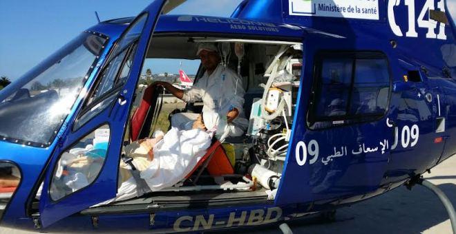 مروحية طبية تنقذ سيدة مغربية تعرضت لأزمة ربو حادة