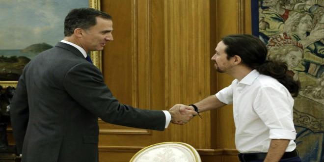 """الملك فيليبي يستقبل زعيم """"بوديموس"""" الذي أبدى استعداده للدخول في الحكومة"""