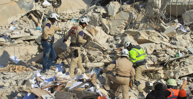 مصرع 682 مدنيا في غارات نظام الأسد وروسيا في غضون شهر