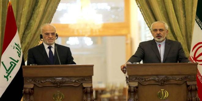 وزير الخارجية الإيراني جواد ظريف ونظيره العراقي الجعفري
