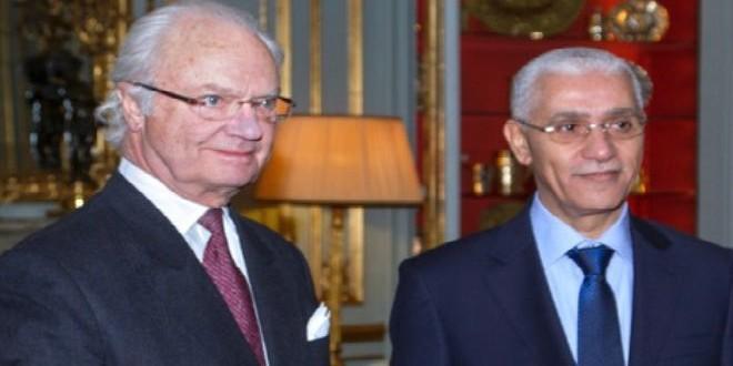 رئيس مجلس النواب المغربي في لقائه أمس مع عاهل السويد