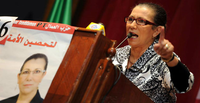 الجزائر: لويزة حنون تحذر الحكومة من مغبة استفزاز المواطنين