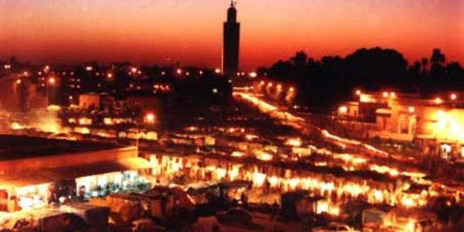 مدينة مراكش في الليل