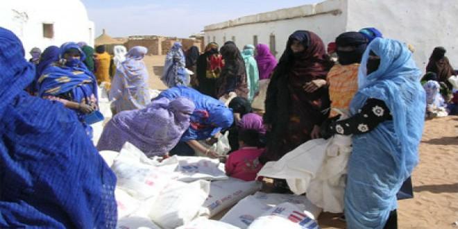 مساعدات إنسانية مقدمة تندوف