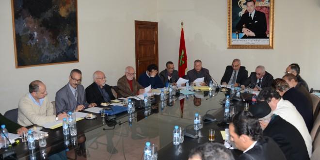 جانب من الاجتماع بوزارة الثقافة المغربية