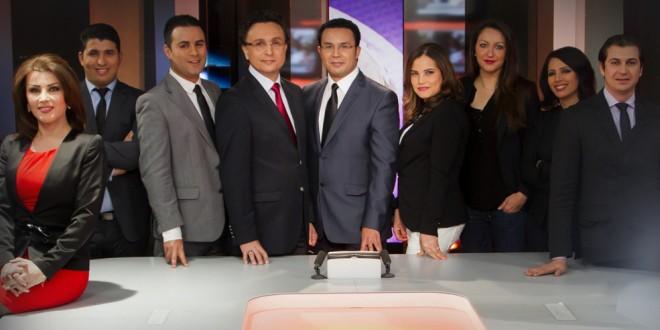 """مقدمو نشرات الأخبار في قناة """" ميدي 1 تي في"""""""