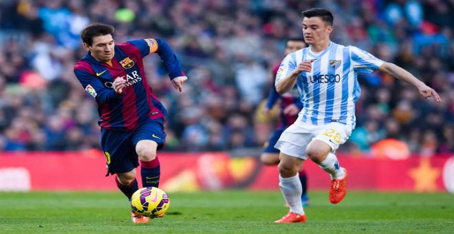 ميسي يقود برشلونة لانتصار ثمين على مالقا
