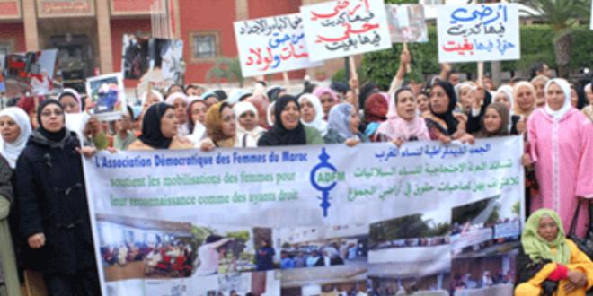 وقفة احتجاجية لنساء الأراضي السلالية أمام البرلمان بالرباط