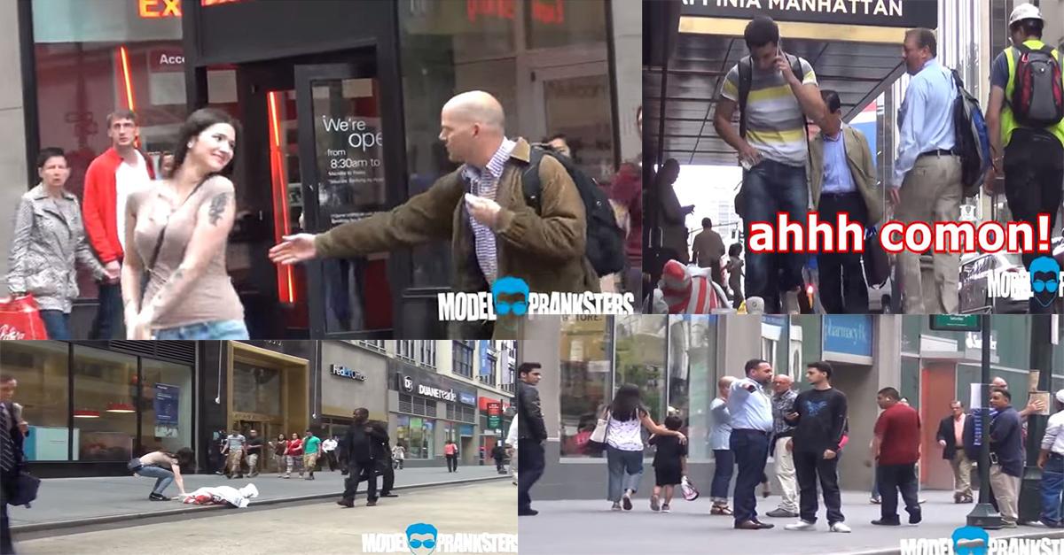 فيديو: الفرق في ردة فعل الناس عندما تسرق فتاة مال متسول بالشارع وعندما يسرقه شاب