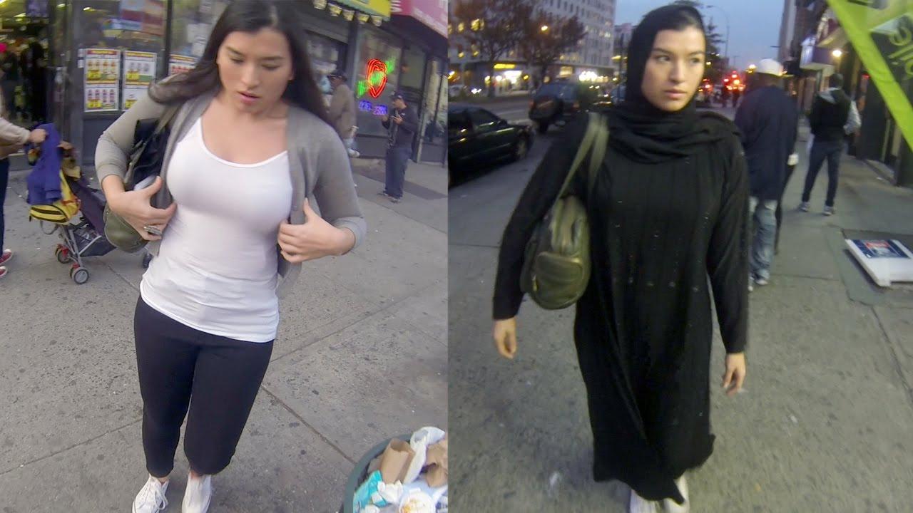فيديو: فتاة تتجول عشر ساعات بالحجاب ثم بدون حجاب
