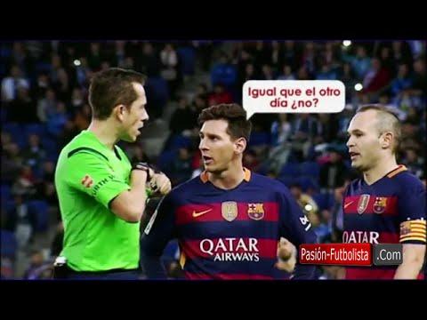 بالفيديو..ميسي يتهجم على حكم إسباني