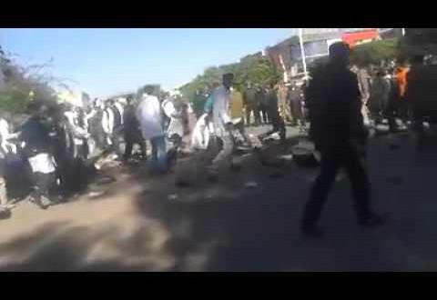 بالفيديو: تدخل امني عنيف بانزكان واصطدامات خطيرة بين اﻷمن واﻷساتدة
