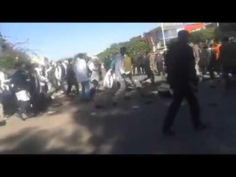 بالفيديو: تدخل امني عنيف بانزكان واصطدامات خطيرة بين اﻷمن واﻷساتذة