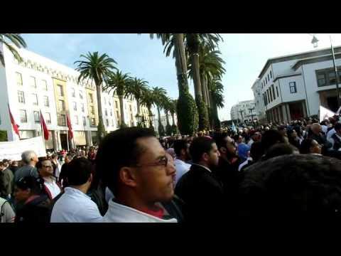 الوقفة الاحتجاجية للنقابات الأربع أمام البرلمان 12يناير