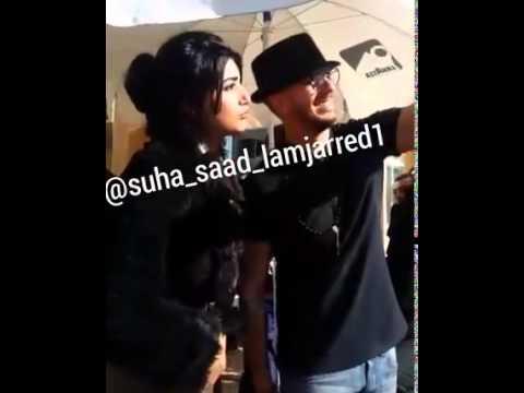 سعد المجرد يحرج معجبة أمام الجميع بعد أن وضعت يدها على كتفه