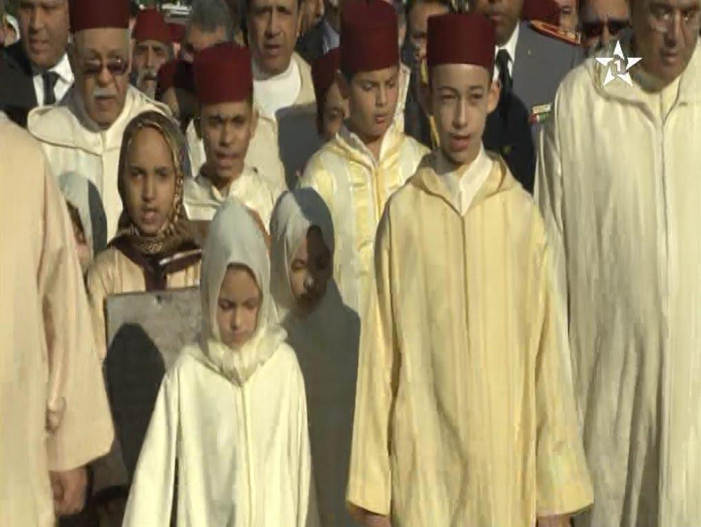 الأمير مولاي الحسن والأميرة للاخديجة يؤديان صلاة الاستسقاء في سلا الجديدة