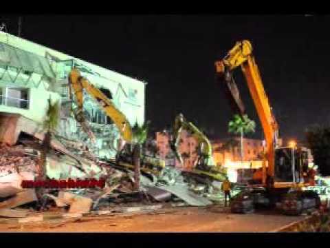 بالفيديو..لحظة هدم بناية ''مارينا'' بالدارالبيضاء