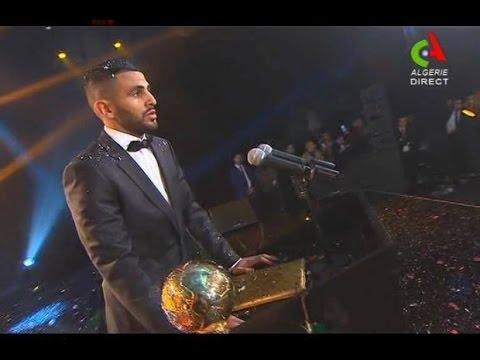 بالفيديو.. أبوتريكة يمنح رياض محرز الكرة الذهبية