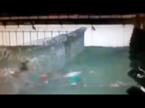 لحظة انفجار سور سجن برازيلي وفرار المساجين!