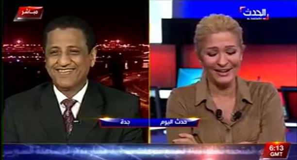 فيديو: وزير الإعلام اليمني يغازل مذيعة العربية على الهواء