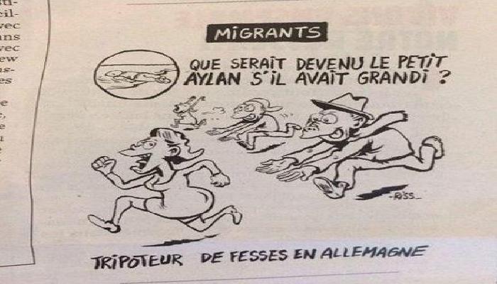 شارلي إيبدو تستفز العالم بكاريكاتير للطفل السوري إيلان
