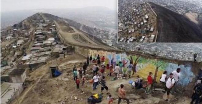 بالفيديو.. «جدار العار» يفصل بين الفقراء والأغنياء