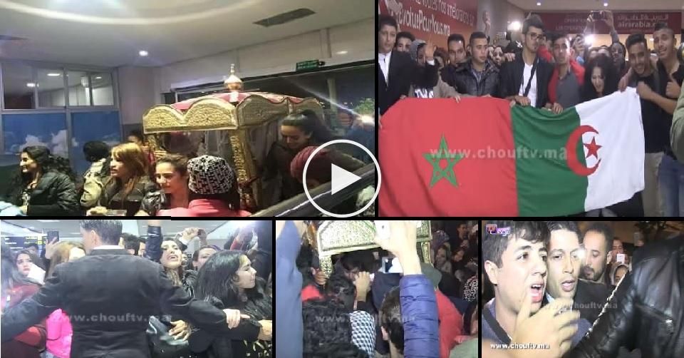 لحظة وصول إيهاب أمير نجم ستار أكاديمي المغرب عبر مطار محمد الخامس بالبيضاء