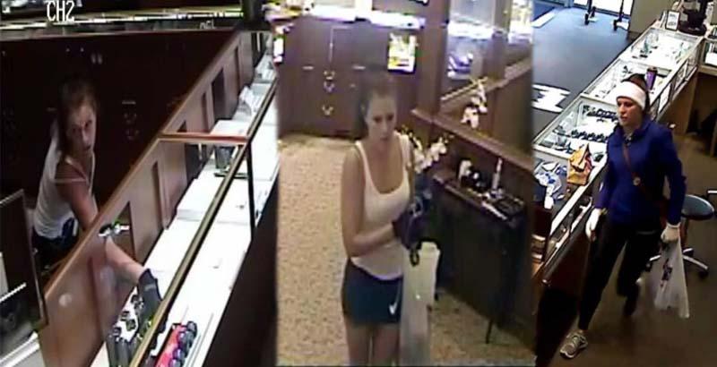 فيديو: فتاة قامت بسطو مسلح على 6 متاجر مجوهرات!