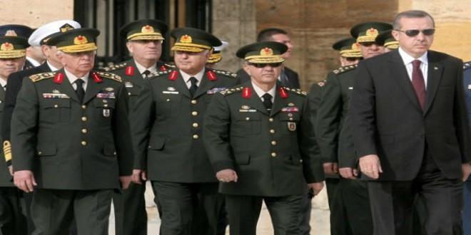 أردوغان وجنرالات الجيش التركي
