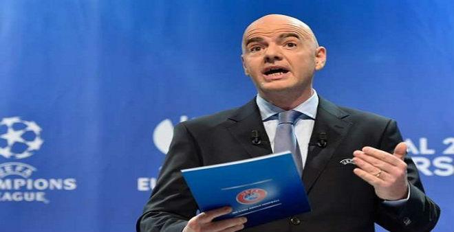 رئيس الفيفا يقرر زيادة عددالمنتخبات في المونديال