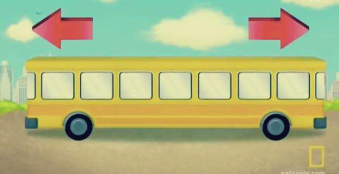 هل تستطيع حل هذا اللغز: في أي اتجاه يسير الأتوبيس؟