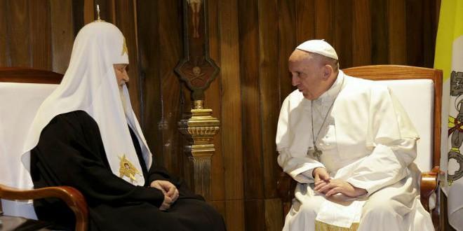 لقاء البابا فرانسيس والبطريرك كيريل في كوبا