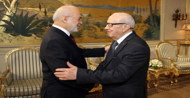 تونس: السبسي يستقبل الجعفري وزير خارجية العراق