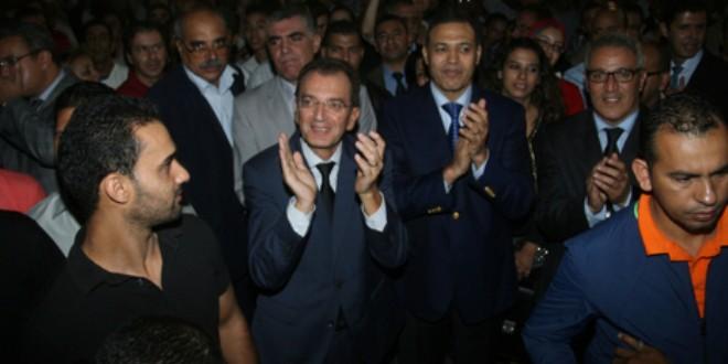 السيد محمد الصبيحي، وزير الثقافة، خلال إحدى السهرات الفنية.