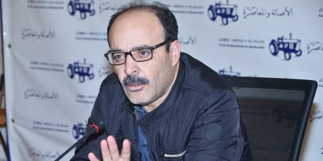 السيد الياس العماري أثناء ترؤسه اليوم اجتماع المكتب السياسي لحزب الأصالة والمعاصرة