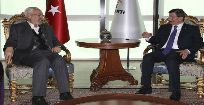 الغنوشي يلتقي أوغلو خلال زيارته إلى تركيا